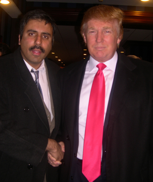 Dr.Abbey with Billionaire Donald Trump Realestate Tycoon