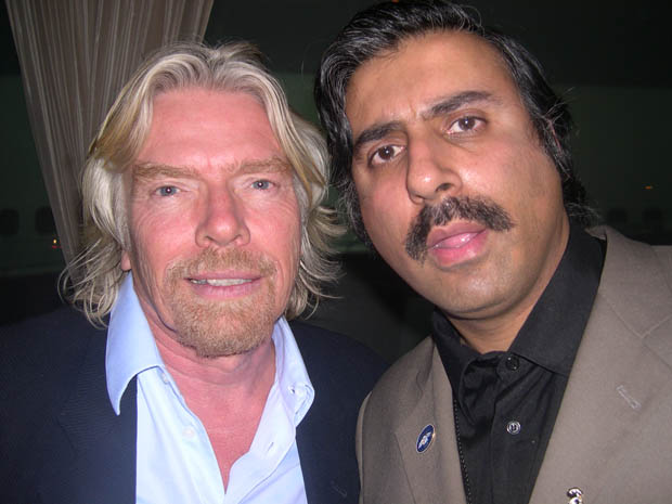 Dr.Abbey with Billionaire Sir Richard Branson of Virgin Group