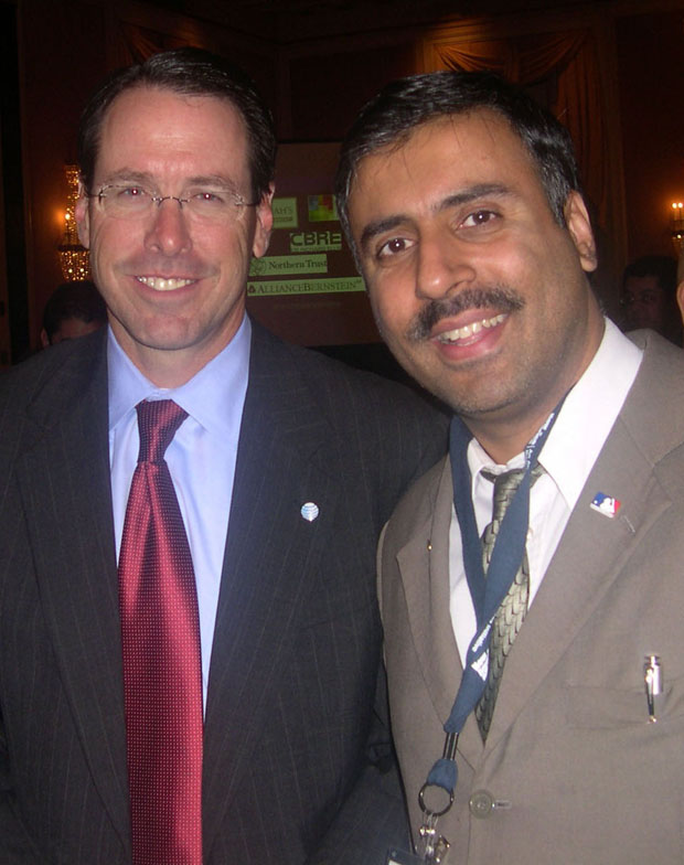 Dr.Abbey with Randall L.Stephenson Chairman of AT&T