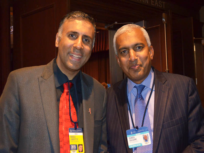 Dr.Abbey with Rangnath Salgame CEO Tata Communications