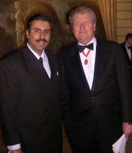 Dr.Abbey with Sir Howard Stringer Chairman of Sony Corp