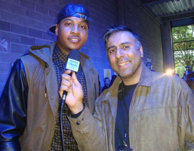 Dr. Abbey With Carmelo Antony Knicks Basketball Player
