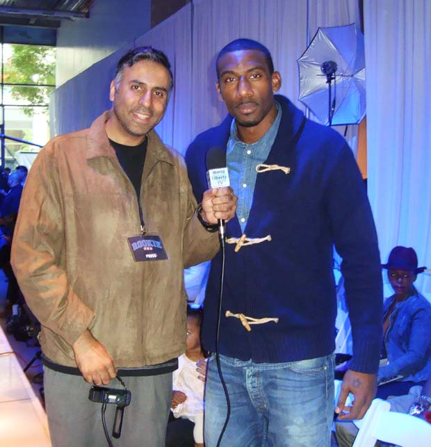 Dr. Abbey with Amar'e Stoudemire, New York Knicks, power forward