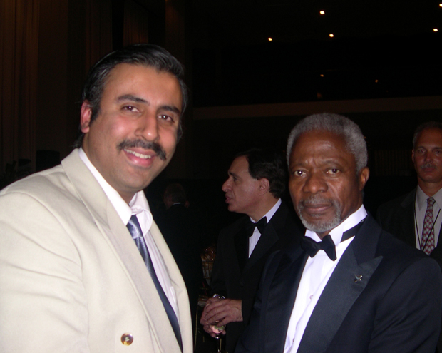 Dr Abbey with Kofi Annan former UN Secetary General