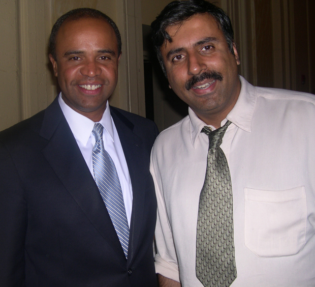 Dr. Abbey with Adolfo Carrion Jr Former Bronx Boro President