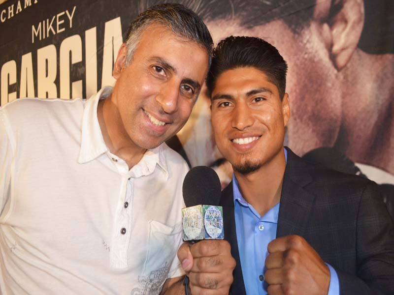Dr.Abbey with 3 Time World Boxing Champion Mikey Garcia