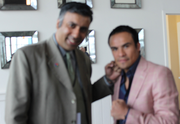 Dr.Abbey with 4 Time World Boxing great Juan Manuel Marquez