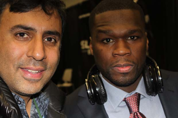Dr.Abbey with 50 Cent Rapper