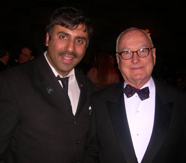 Dr.Abbey with Academy Award Winning Director James Ivory
