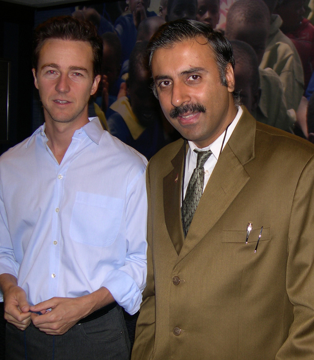 Dr.Abbey with Actor Edward Norton