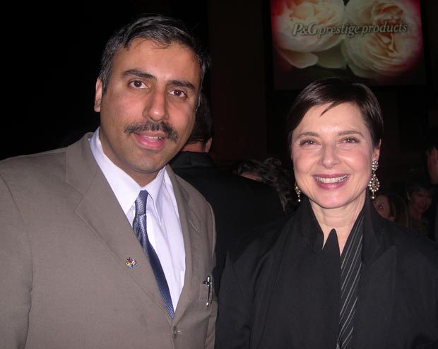 Dr.Abbey with  Actress Isabella Rossellini