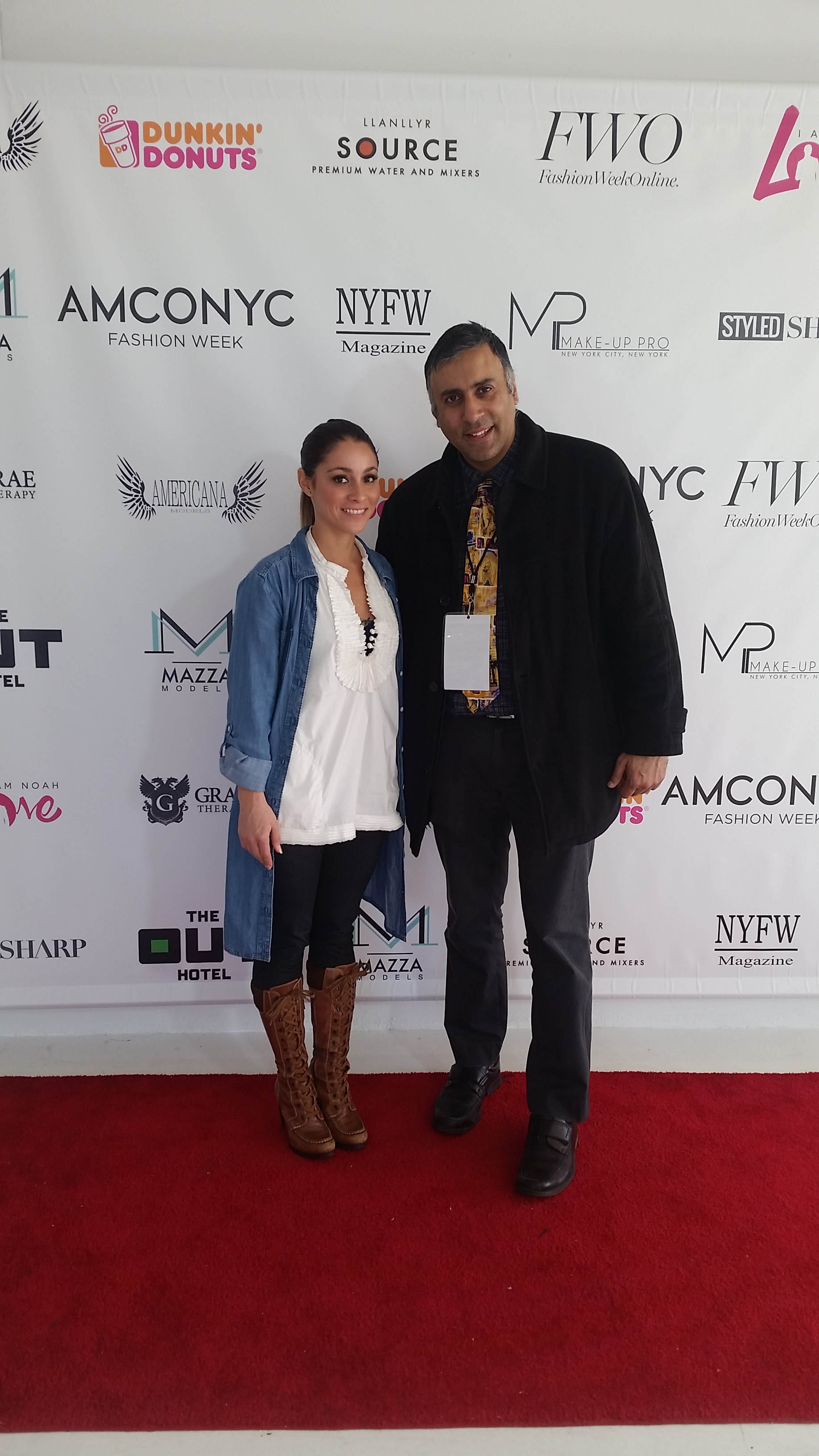 Dr.Abbey with Adriana Marie Founder AMCONYC Fashion Week