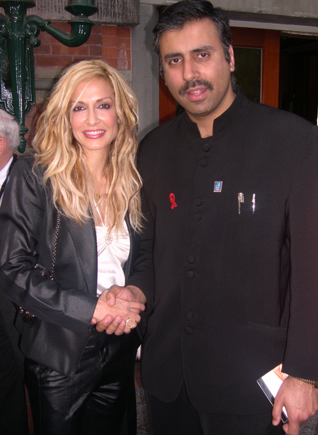 Dr.Abbey with Anna Vissi Famous Greek Singer