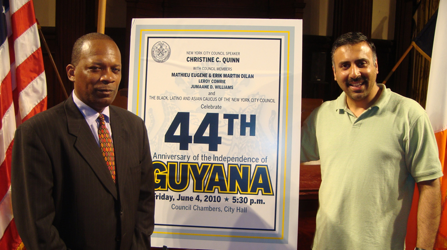 Dr.Abbey with Antony Carter of The Guyanese Organization