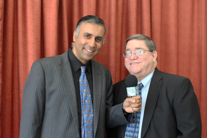 Dr.Abbey with Bernard Ferandez World Renowned Boxing Writer