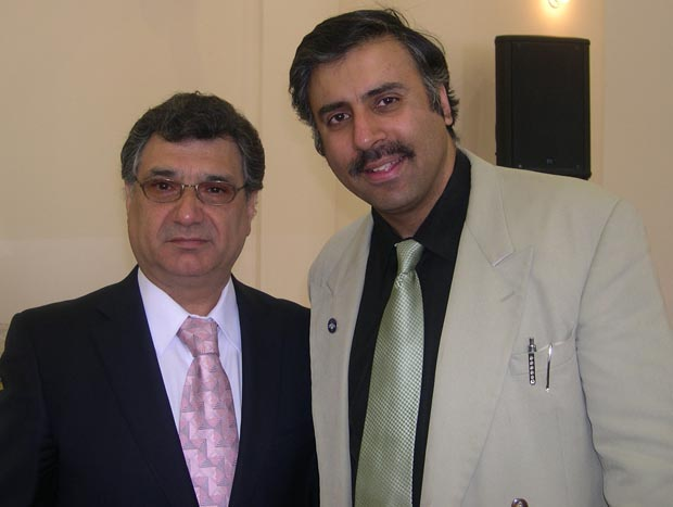 Dr.Abbey with  Boris Kandov President Bukharian Jewish Community Center