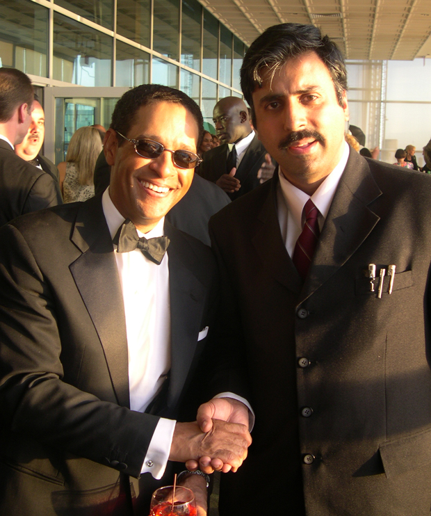 Dr.Abbey with Bryant Gumbel Sports Announcer
