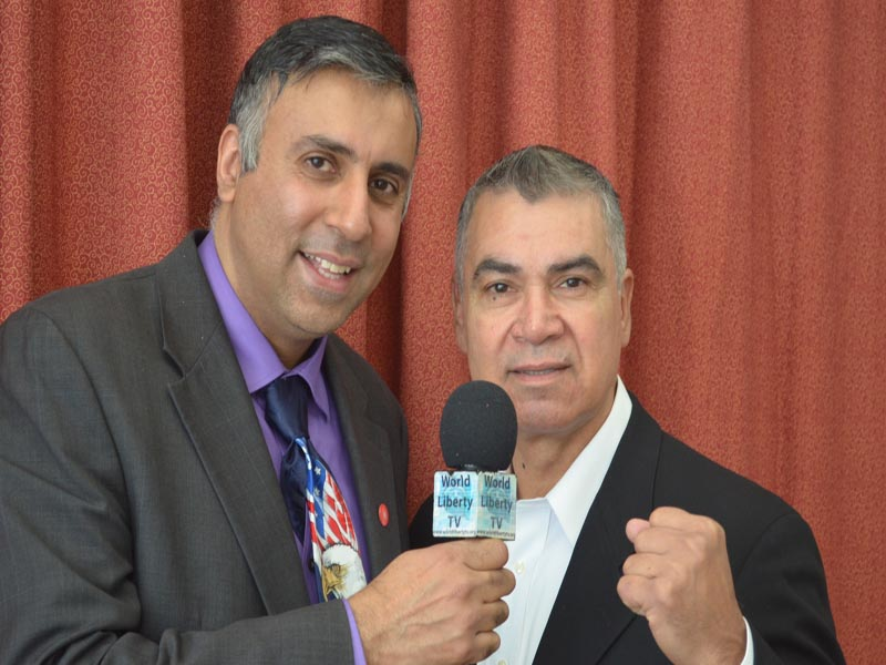 Dr.Abbey with Carlos Palamino Welterweight Boxing Champion