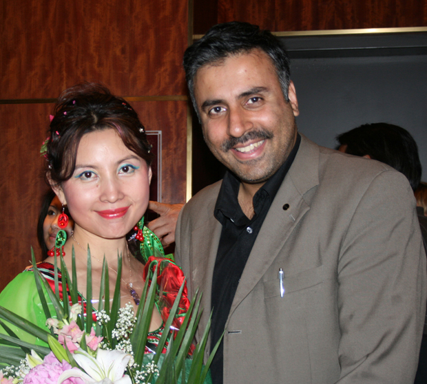 Dr.Abbey with Chinese Entertainer Ma Xiaohui