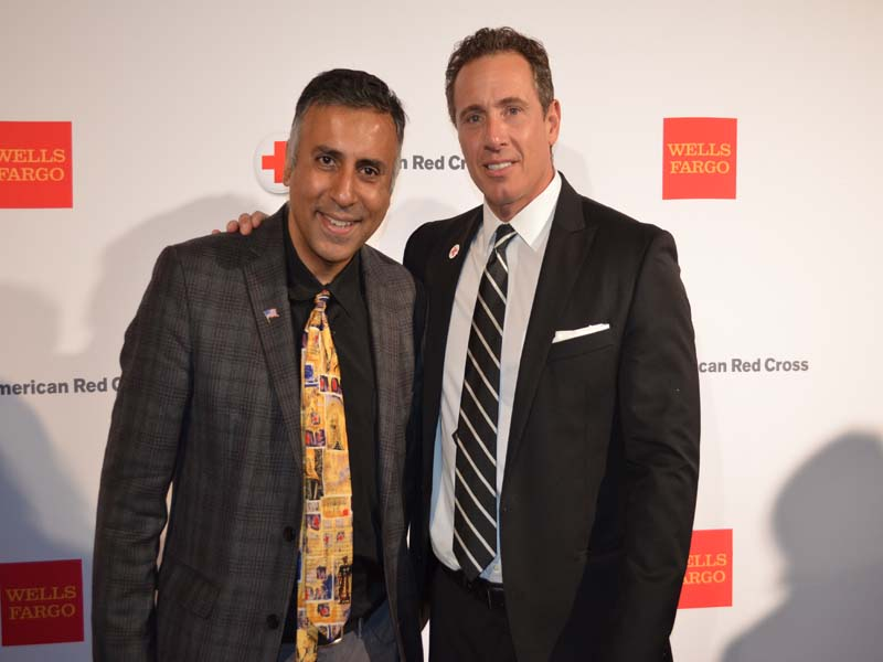 Dr.Abbey with Chris Cuomo Newscaster with CNN