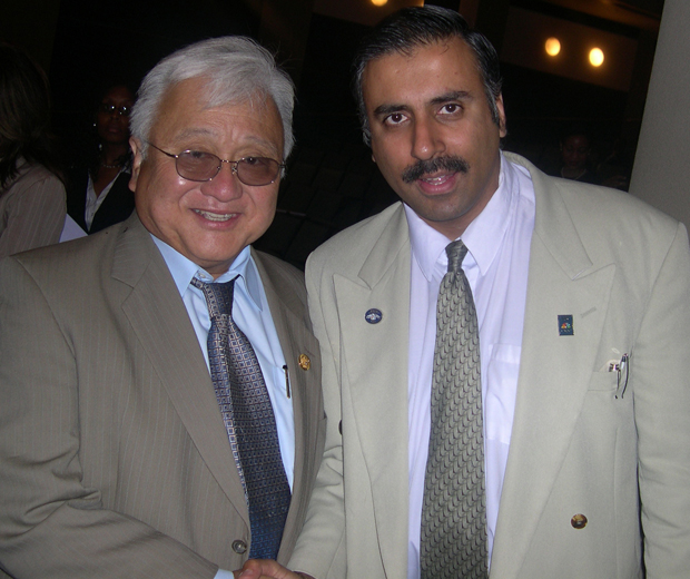 Dr.Abbey with Congress Member Mike Honda
