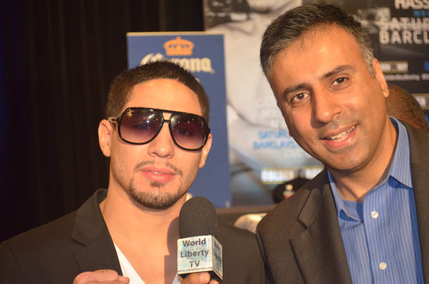 Dr.Abbey with Danny Garcia World Light Welterweight Boxing Champ