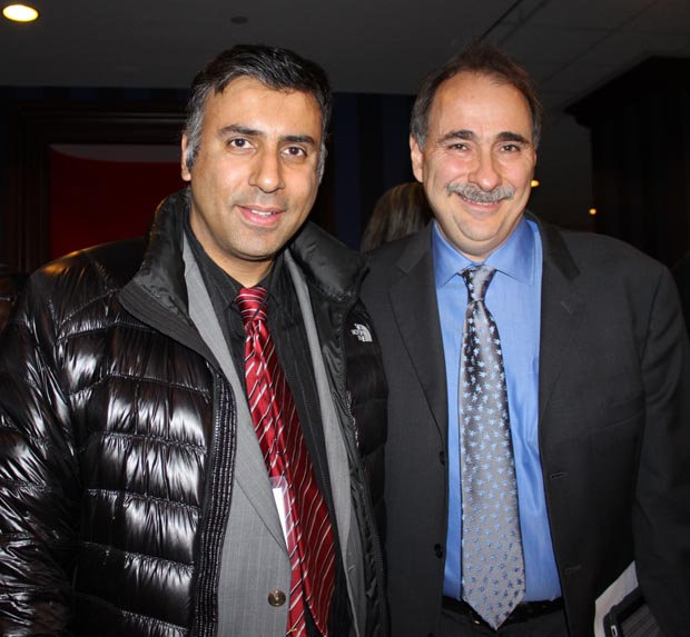 Dr.Abbey with David Axelrod Presidential Advisor