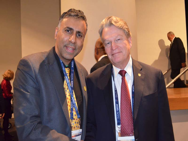 Dr.Abbey with David C. Davis ASIS International President