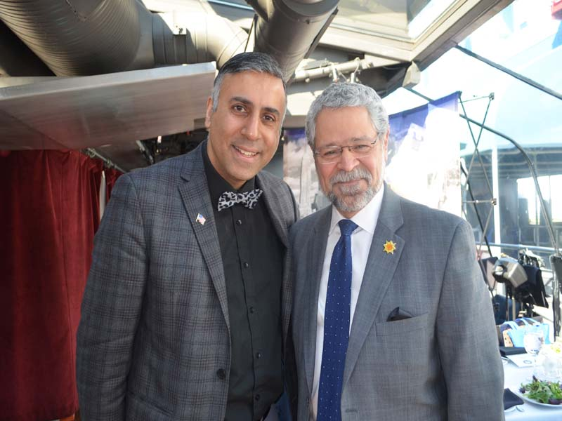 Dr.Abbey with David Gomez President Hostos College