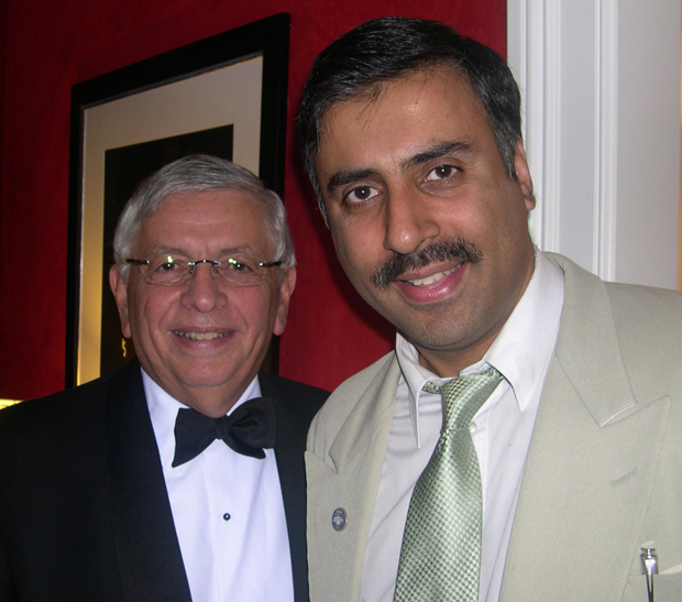 Dr.Abbey with David Stern Commissioner of NBA