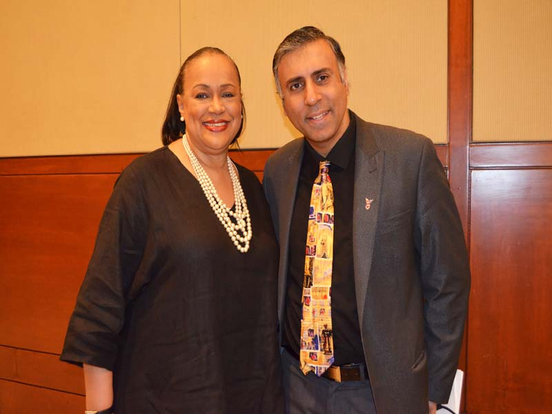 Dr.Abbey with Denise Richardson  Of Salvation Army
