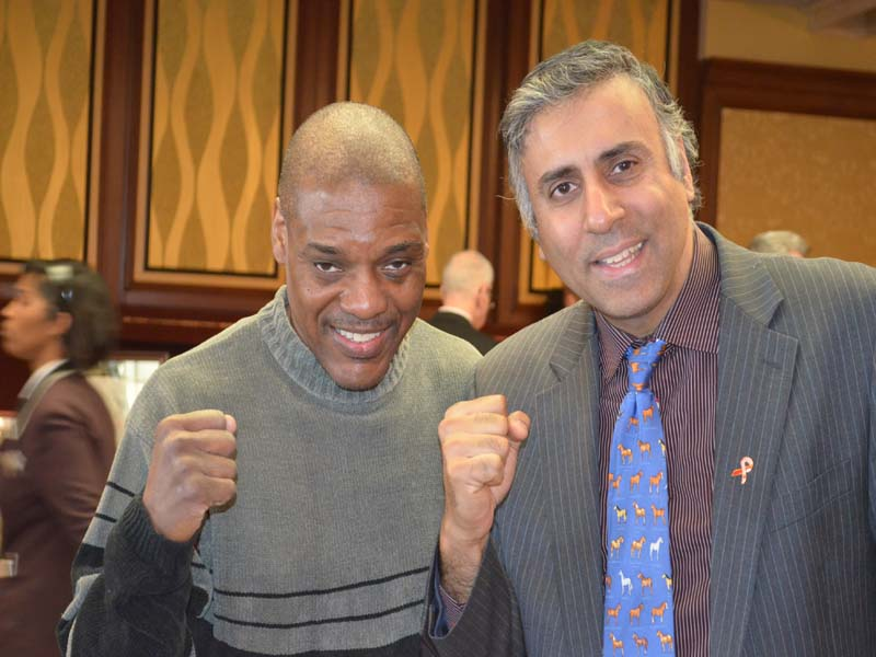 Dr.Abbey with Dennis Milton Boxing Contender