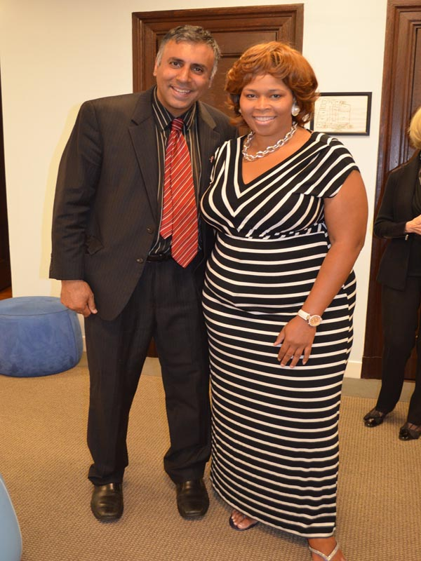 Dr.Abbey with Dionne Williams org of Emerge