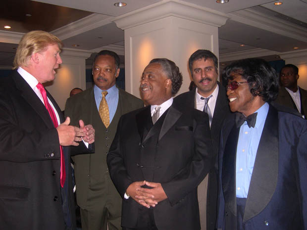 Dr.Abbey with Donald trump Jessie Jackson, Al Sharpton & James Brown
