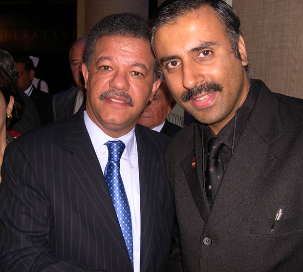 Dr.Abbey with Dr Leonel Fernandez,President Dominican Republic,