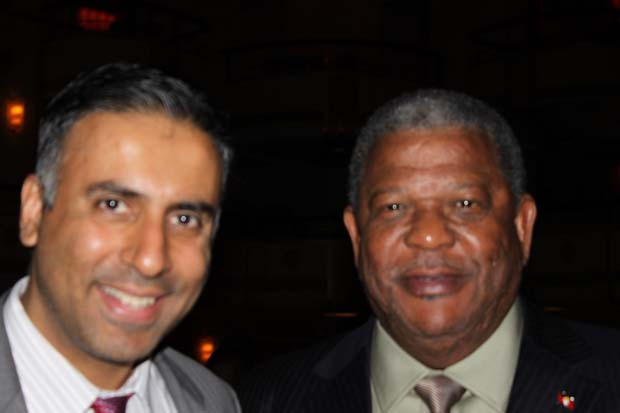 Dr.Abbey with Dr W Baldwin Spencer PM of Antigua and Barbuda
