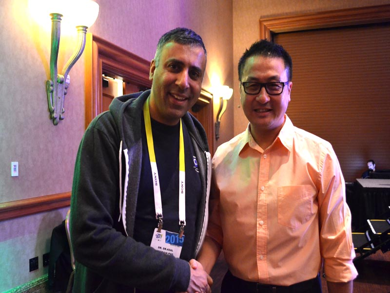 Dr.Abbey with E Hao CEO of TCL USA