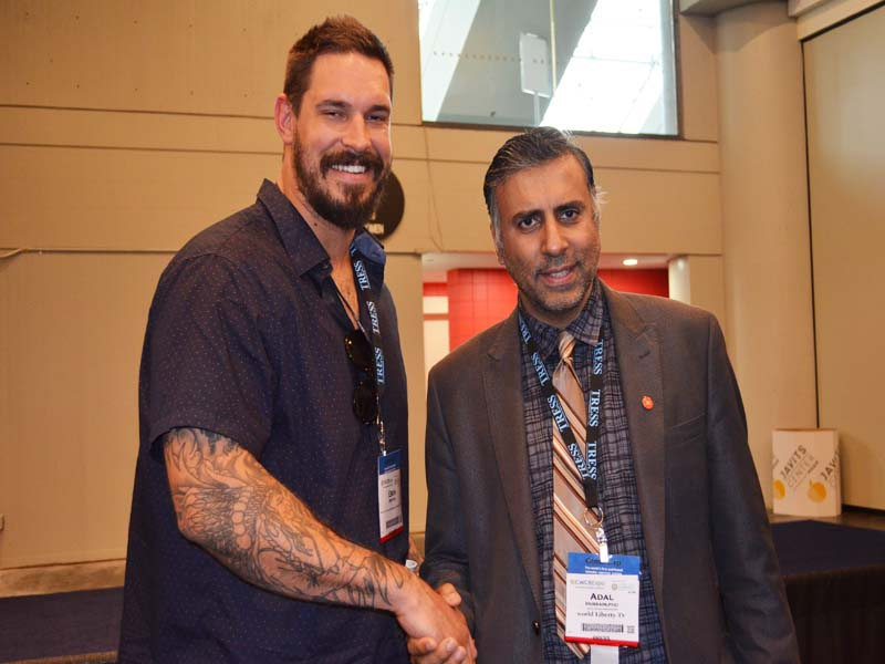 Dr.Abbey with Eben Britton, Former NFL guard and tackle  For Chicago Bears
