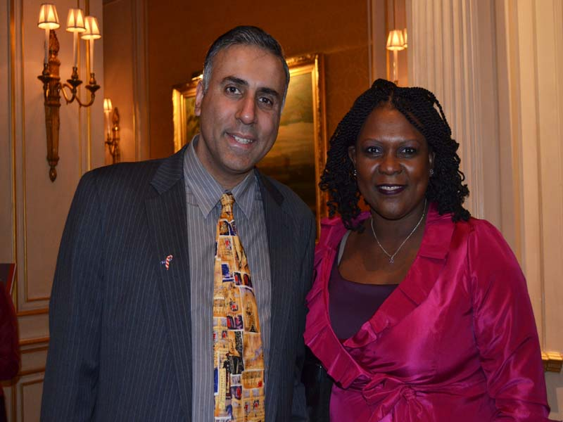 Dr.Abbey with Elizabeth Ngonzi CEO Afrika Tikkun USA