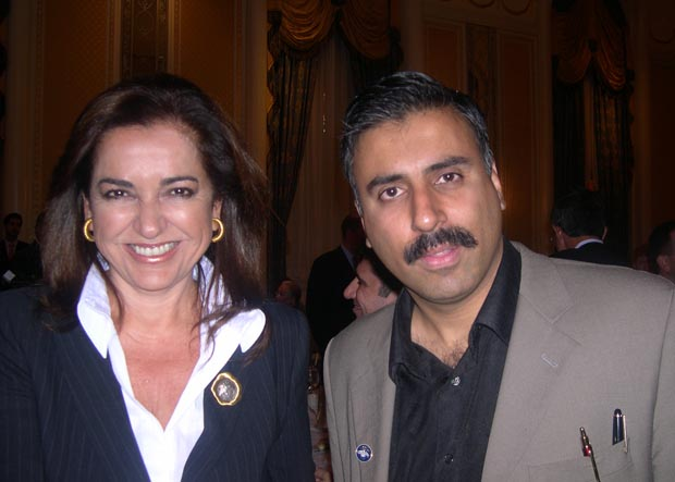 Dr.Abbey with  Foreign Min of Greece Dora Bakoyannis