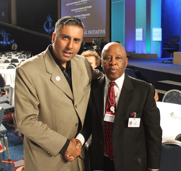 Dr.Abbey with Former President of Botswana, Festus Mogae