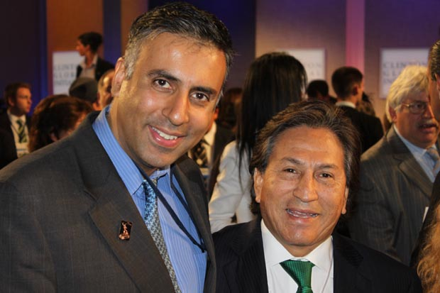 Dr.Abbey with Former President of Peru Dr Alejandro Toledo