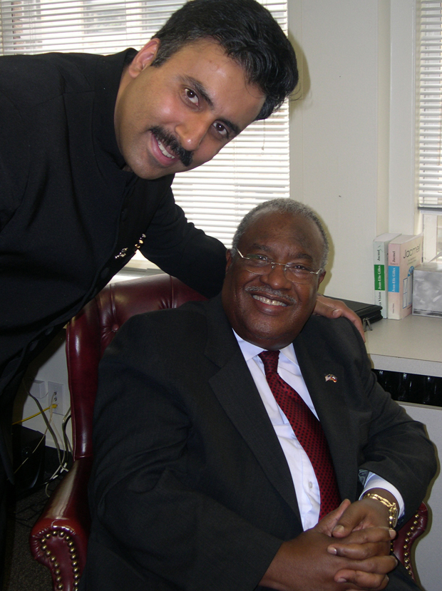 Dr.Abbey with Former Prime Minister of Haiti Gerad Latortue