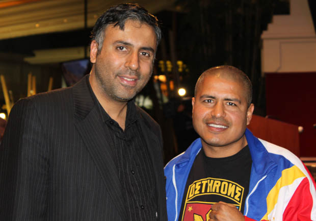 Dr.Abbey with Former World Champion & trainer Robert Garcia