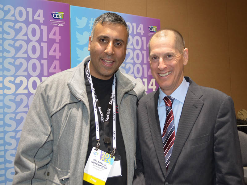 Dr.Abbey with Gary Shapiro,President CES International