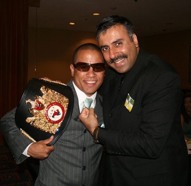 Dr.Abbey with Gato Figueroa,NABF Boxing Champ