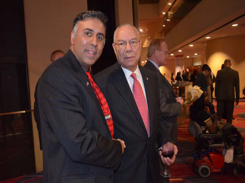 Dr.Abbey with Gen Collin Powell Founder of Americas Alliance Promise