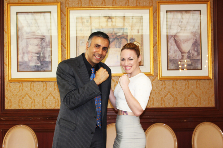 Dr.Abbey with Heather Hardy Womens Boxing Champion