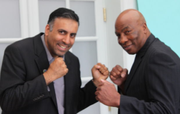 Dr.Abbey with Heavyweight Boxing Contender Ernie Shavers