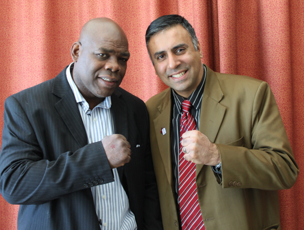 Dr.Abbey with Iran Barkley 4 Time World Boxing Champion